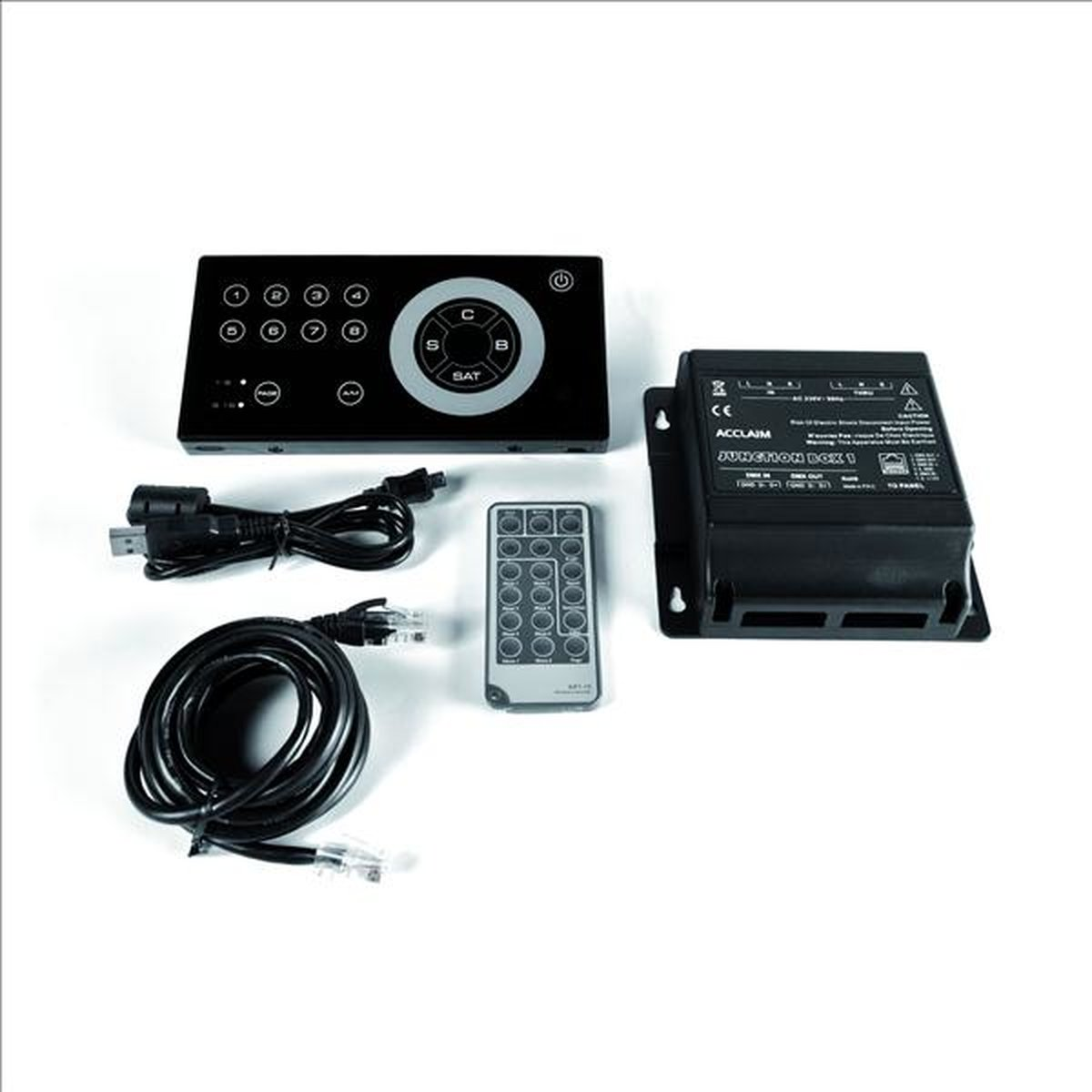 Acclaim Art-16 DMX Recorder, USB, Touch-Interface, Infrarot, inkl. Junction-Box