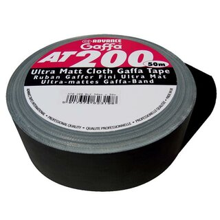 Advance Gaffa Tape AT-200 ultramatt schwarz/black (Cloth...