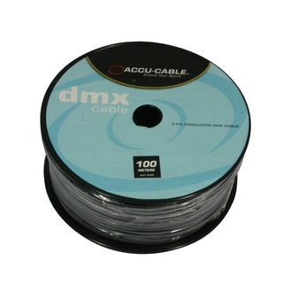 Accu Cable DMX Kabel 110 OHM, Rolle 100 Meter, 3-adrig
