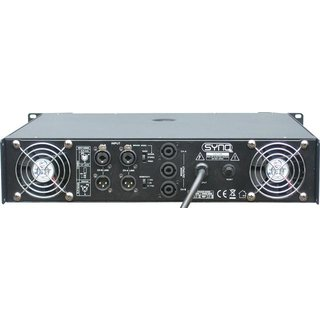 Synq Audio PE-2400 Endstufe, 2x 1200W RMS bei 4 Ohm, 2HE