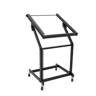 Omnitronic Rack Stand 12U/10U adjustable on Wheels