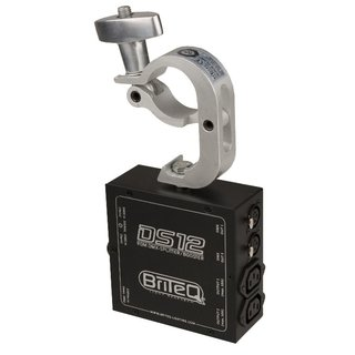 Briteq DS-12, DMX-Splitter/Verteiler/Booster, 1x DMX-In, 2x DMX-Out, RDM-kompatibel