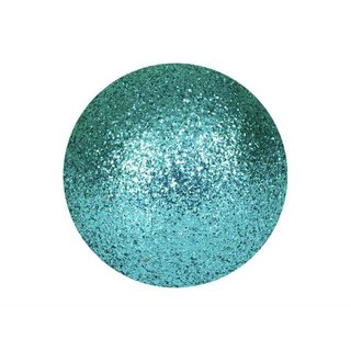 Europalms Deco Ball 3,5cm, turquoise, glitter 48x
