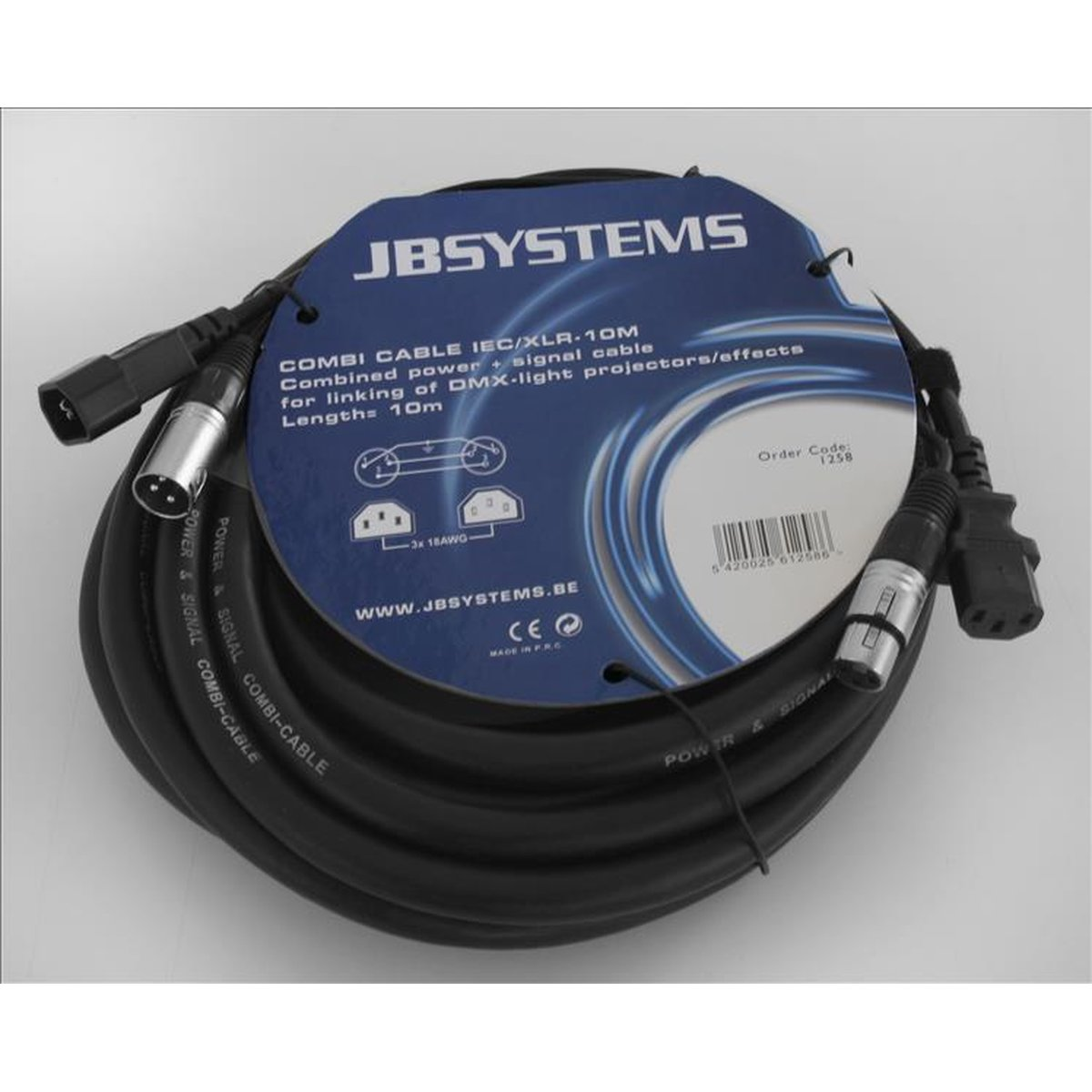 JB Systems Combi Cable IEC/XLR 10m