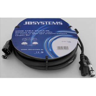 JB Systems Combi Cable IEC/XLR 3m