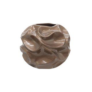 Europalms Design pot BUBBLE-35, brown