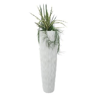 Europalms Design pot LAMELLA-140, white