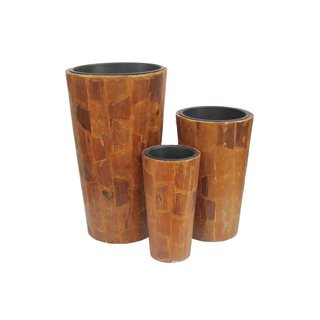 Europalms Deco pot set AFRICA 74/54/44cm