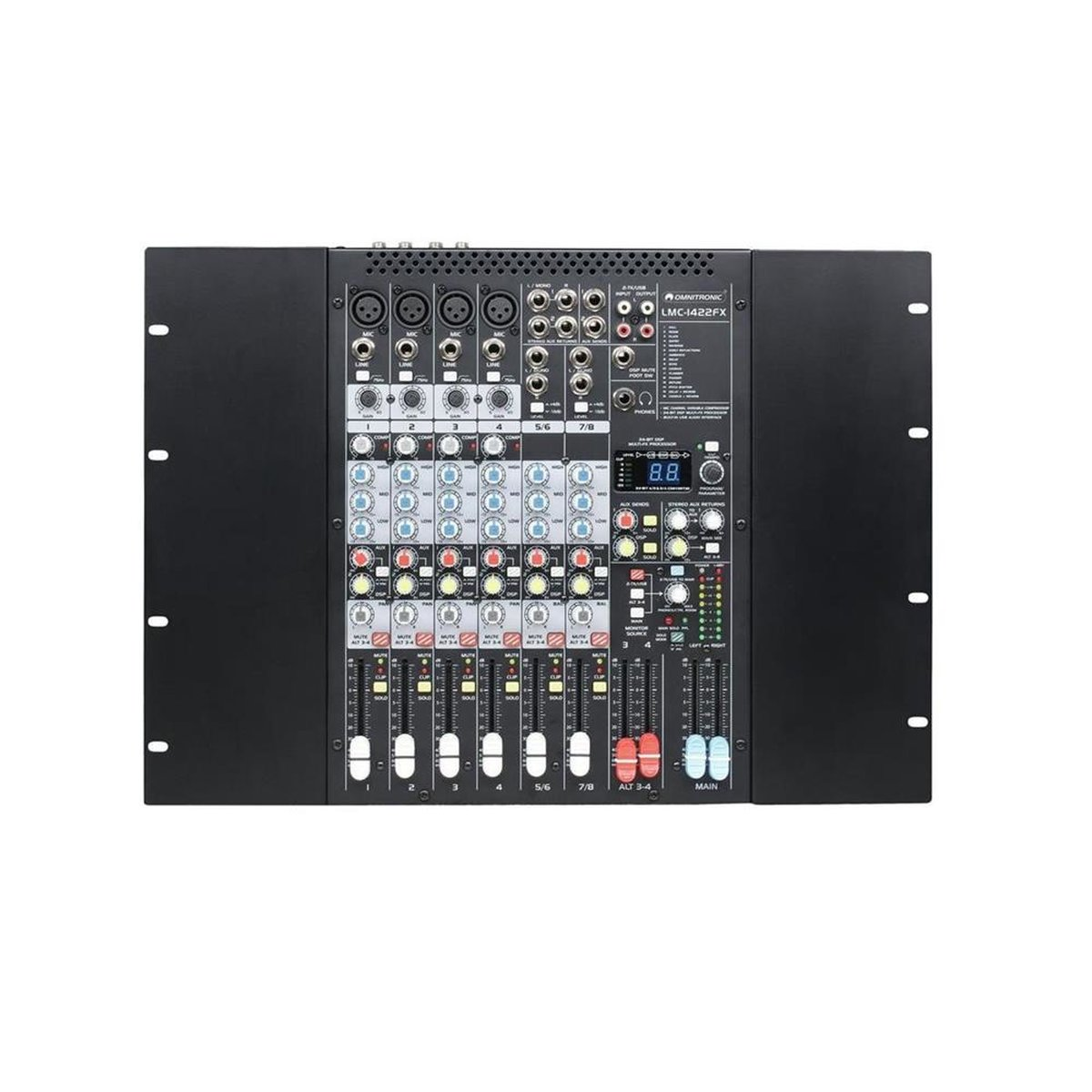 Musical Instruments & Gear Other Dj Equipment Just Omnitronic Ela 6s-zonen Ls-regler 30w Sw
