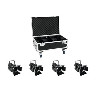 Eurolite Set 4x LED THA-40PC sw + Case