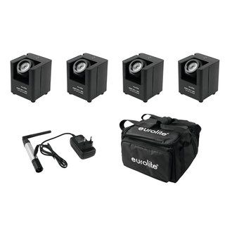 Eurolite Set 4x AKKU UP-1 + SB-4 Soft-Bag + QuickDMX...