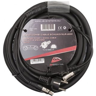 JB Systems Audio Combi Cable SCHUKO/XLR-20M