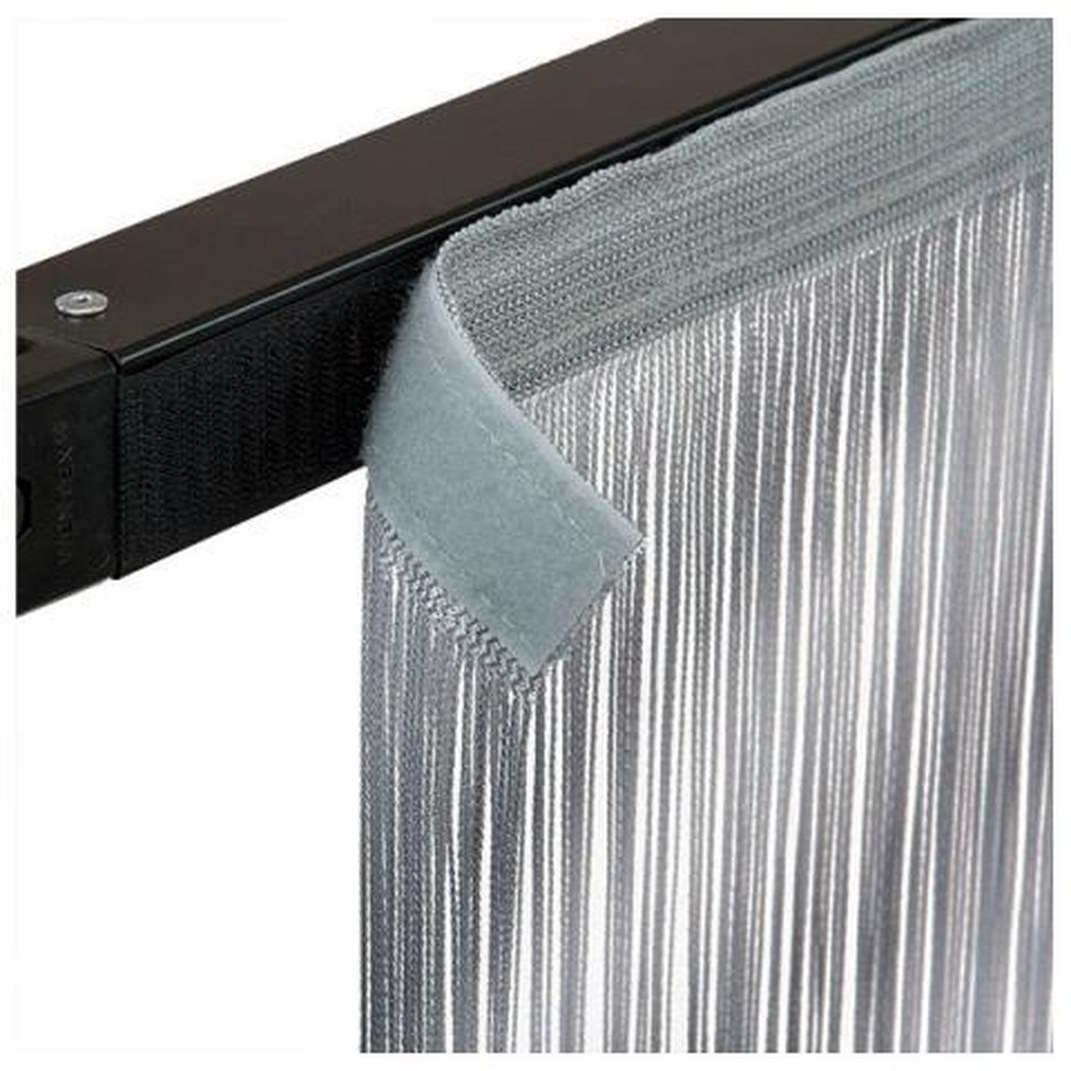 showtec string curtain 3x3m silber grau inkl klettverschluss g nstig kaufen. Black Bedroom Furniture Sets. Home Design Ideas
