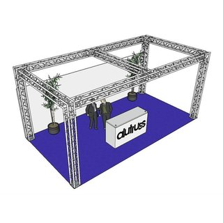 Alutruss Truss set Quadlock 6082 rectangle 7.71x4x3.5m...