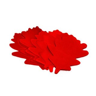 TCM FX Slowfall Confetti Oak Leaves 120x120mm, red, 1kg