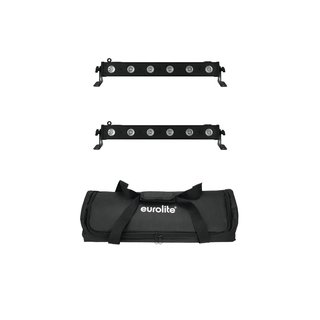Eurolite Set 2x LED BAR-6 QCL RGBA + Soft Bag