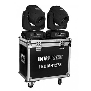 Involight SET 2x LED MH127S inkl. Doppel-Flightcase