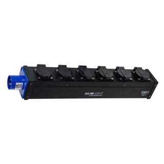 Involight PD 616, Power Split Box, 1x 16A 3pol CEE in, 6x...