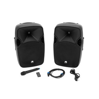 Omnitronic XFM-212AP Active 2-Way Speaker Set with...